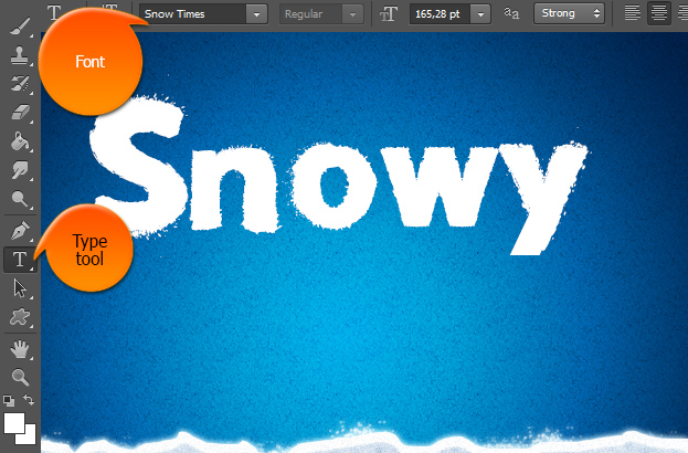 How to create a white snow text effect in photoshop ccuart Image collections